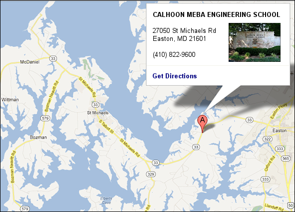 Map and Driving Directions - Calhoon MEBA Engineering School